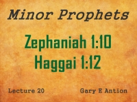 Listen to Minor Prophets - Lecture 20 - Zephaniah 1:10 - Haggai 1:12