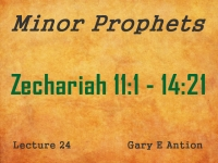 Listen to Minor Prophets - Lecture 24 - Zechariah 11:1 - 14:21