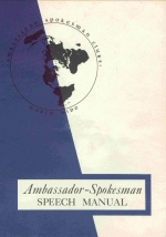 Spokesman Club Speech Manual
