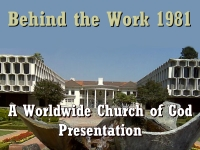 Watch  Behind the Work 1981 - A Worldwide Church of God Presentation