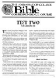 Test Two - For Lessons 5 - 8