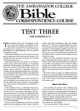 Test Three - For Lessons 9 - 12