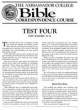 Test Four - For Lessons 13 - 16