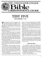 Test Five - For Lessons 17 - 20