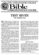 Test Seven - For Lessons 25 - 28