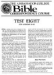 Test Eight - For Lessons 29 - 32