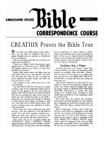Lesson 11 - Creation Proves the Bible True