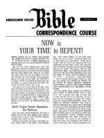 Lesson 23 - Now Is Your Time To Repent!