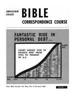 Lesson 7 - Your Bible Reveals the Way Out of Personal Debt