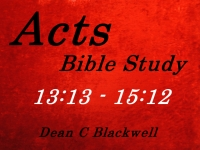 Listen to  Acts 13:13 - 15:12