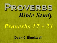 Listen to  Proverbs 17 - 23
