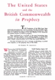 The United States and the British Commonwealth in Prophecy