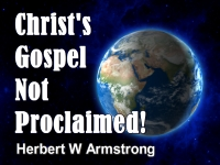 Listen to Christ's Gospel Not Proclaimed!