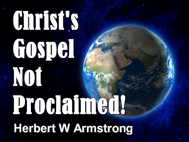 Christ's Gospel Not Proclaimed!