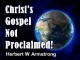 Christ's Gospel Not Proclaimed!
