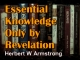 Essential Knowledge Only by Revelation