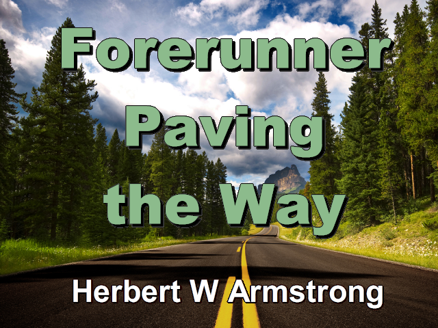 Forerunner Paving the Way