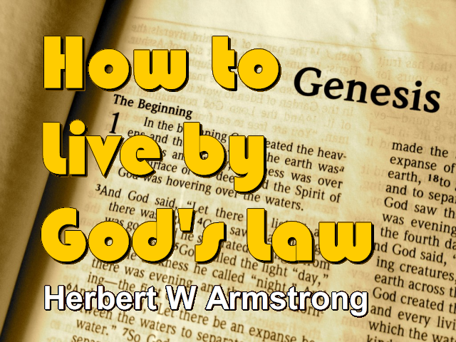 How to Live by God's Law