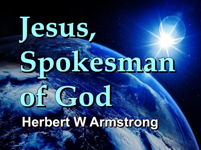 Jesus, Spokesman of God