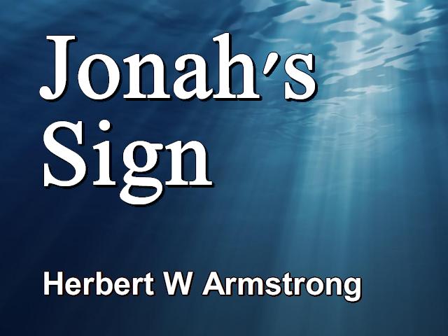 Jonah's Sign