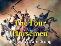 Listen to Outline of Prophecy 17 - The Four Horsemen