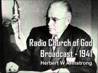 Listen to Radio Church of God Broadcast - 1941