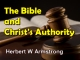 The Bible and Christ's Authority