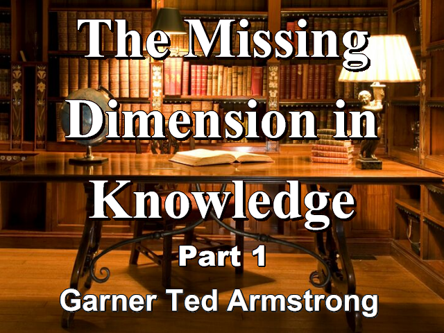 The Missing Dimension in Knowledge - Part 1