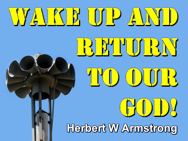 Wake Up and Return To Our GOD!