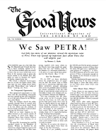 We Saw PETRA! Good News Magazine January 1958 Volume: Vol VII, No. 1