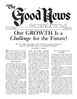 HOW to Observe God's Festivals Good News Magazine January 1959 Volume: Vol VIII, No. 1