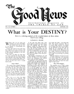 Must God's Ministers Be Ordained by the Hand of Man? Good News Magazine January 1960 Volume: Vol IX, No. 1