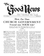 Is JUDAISM the Religion of Moses? - Part 2 Good News Magazine January 1961 Volume: Vol X, No. 1