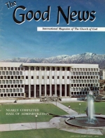 Church of God News - WORLDWIDE Good News Magazine January-February 1969 Volume: Vol XVIII, No. 1-2