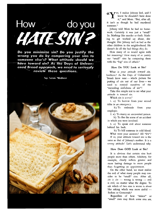 How do you HATE SIN?