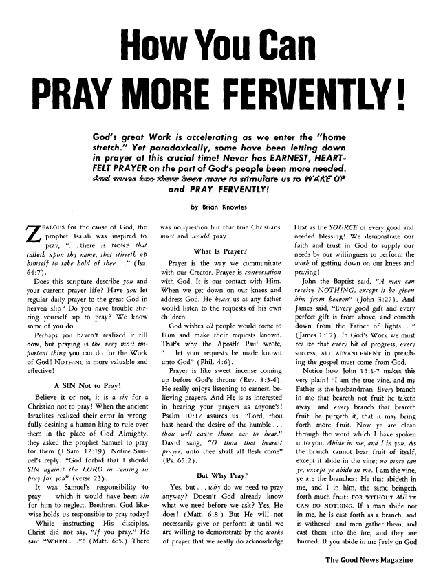 How You Can PRAY MORE FERVENTLY!