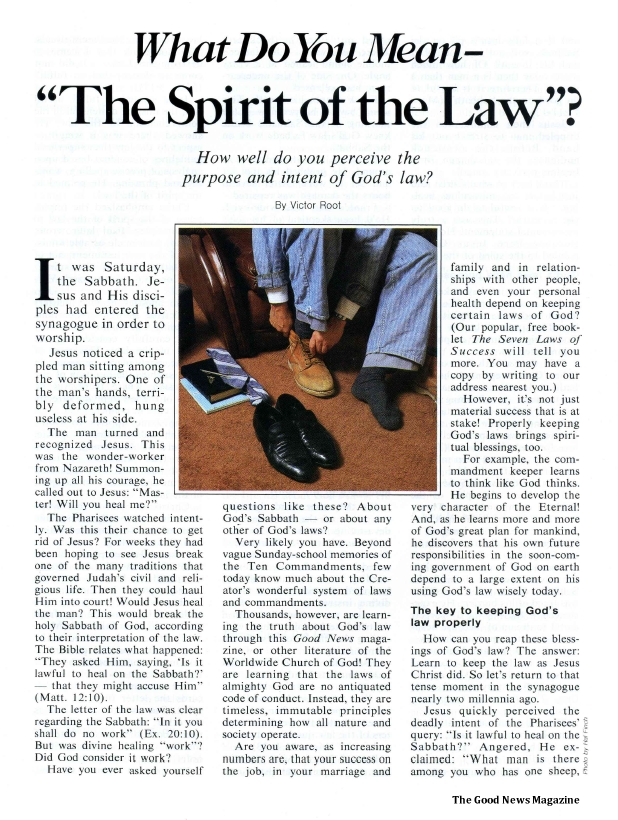 What Do You Mean - The Spirit of the Law?