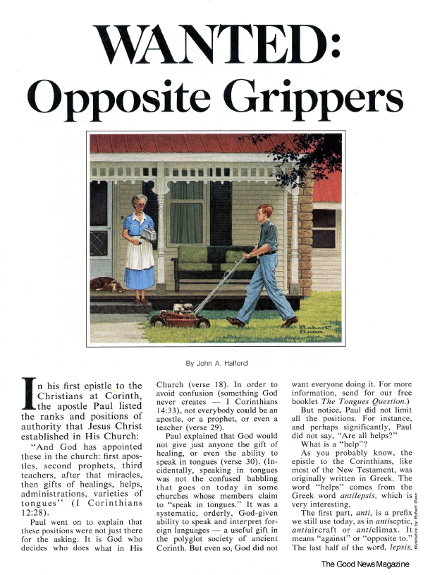 WANTED: Opposite Grippers