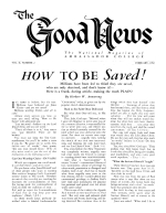 How YOU Can Have FAITH to Meet Life's Problems Good News Magazine February 1952 Volume: Vol II, No. 2