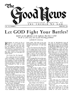 Let GOD Fight Your Battles! Good News Magazine February 1958 Volume: Vol VII, No. 2