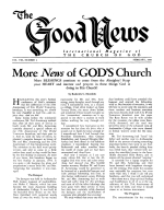 More News of GOD'S Church Good News Magazine February 1959 Volume: Vol VIII, No. 2