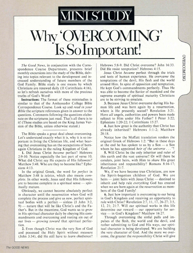 MINISTUDY: Why 'OVERCOMING' Is So Important!