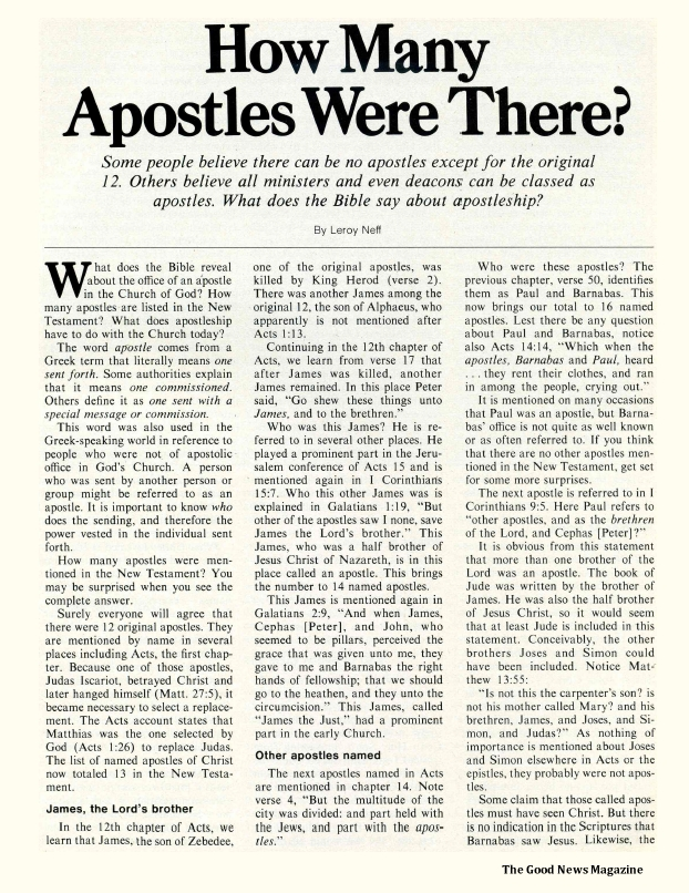 How Many Apostles Were There?