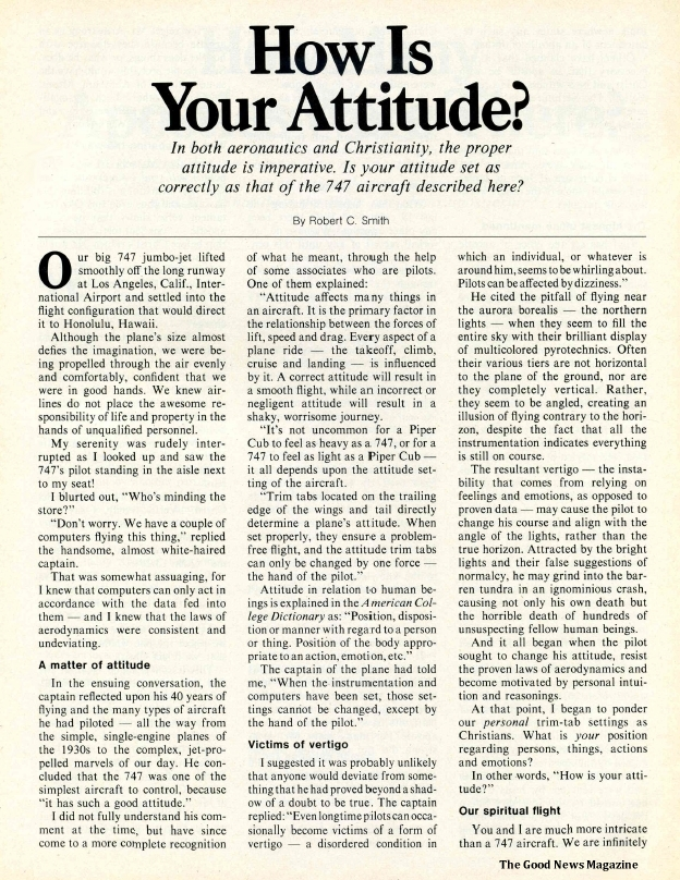 How Is Your Attitude?