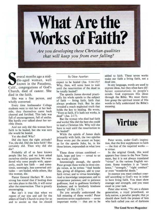 What Are the Works of Faith?