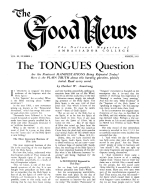 Truth about Unclean Meats Good News Magazine March 1953 Volume: Vol III, No. 3