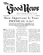 WHY Local Churches? Good News Magazine March 1957 Volume: Vol VI, No. 3
