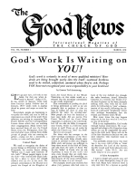 Should We USE the OLD TESTAMENT? Good News Magazine March 1958 Volume: Vol VII, No. 3