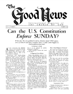 Is JUDAISM the Law of Moses? - Part 4 Good News Magazine March 1961 Volume: Vol X, No. 3
