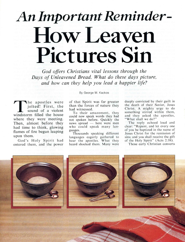 An Important Reminder - How Leaven Pictures Sin